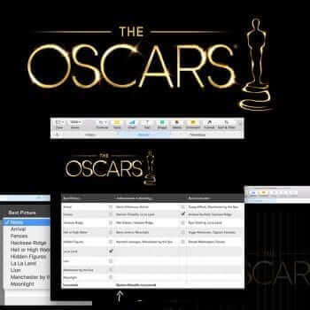 Oscar Night Party Template for Numbers