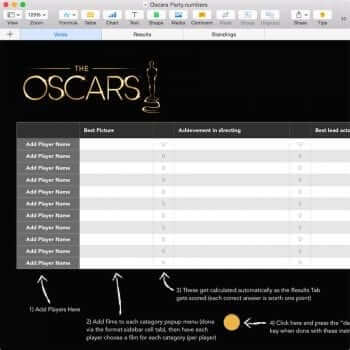 Oscar Night Blank