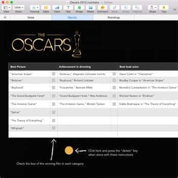 Oscars Party Template 11