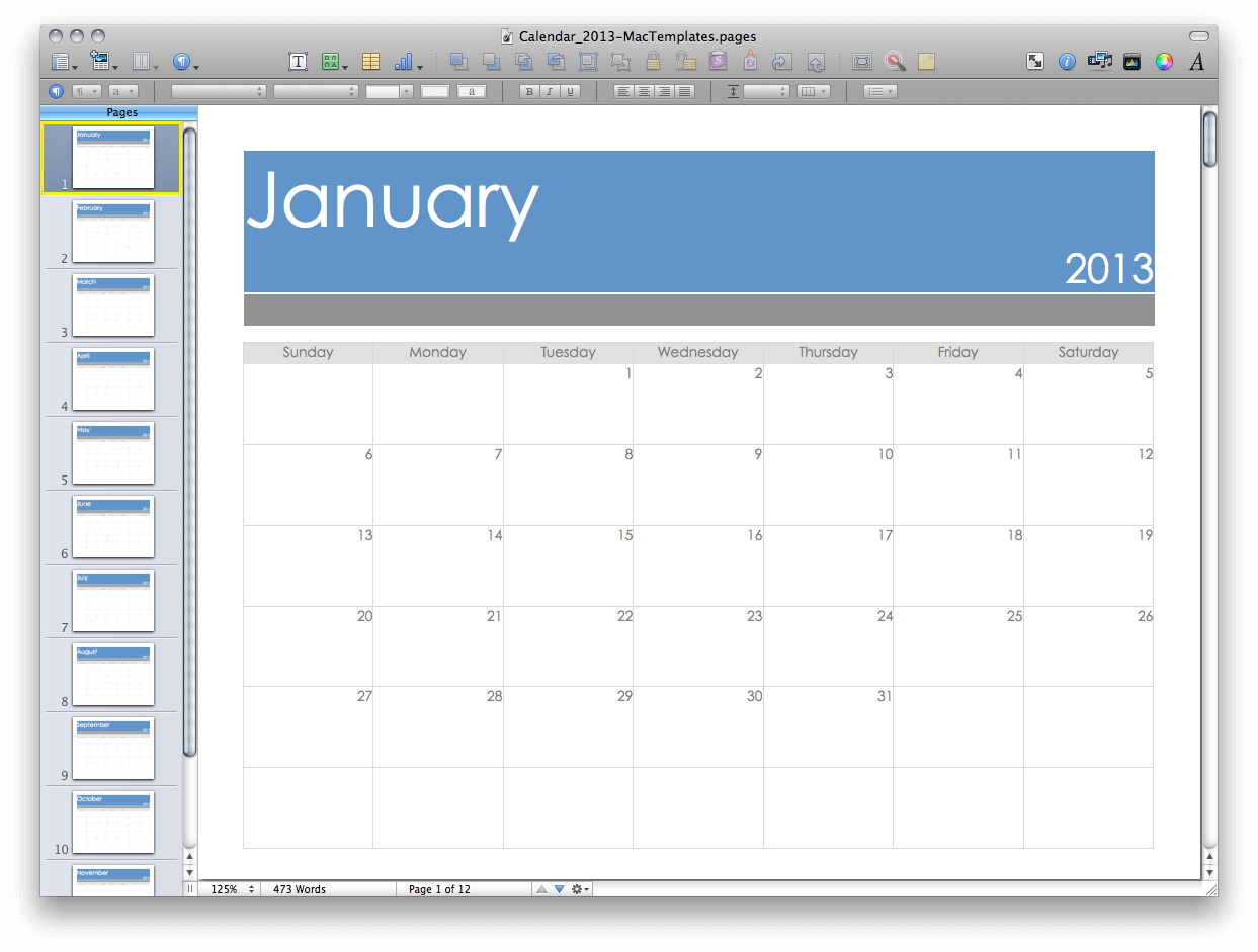 Calendar Design Mac : Pages templates mac free images template apple
