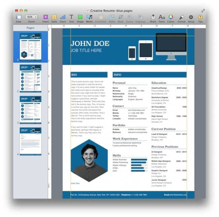Creative Resume Template 6