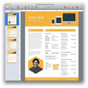 Creative Resume Template 16