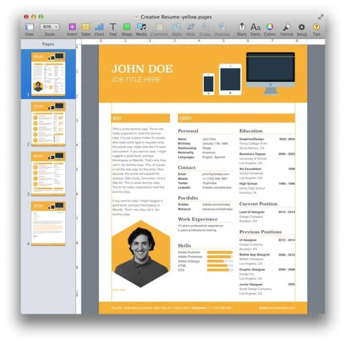 Creative Resume Template 7