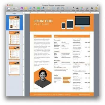 Creative Resume Template 17