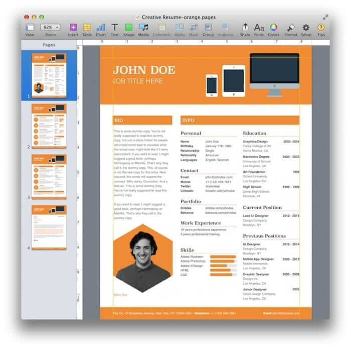 Creative Resume Template 8