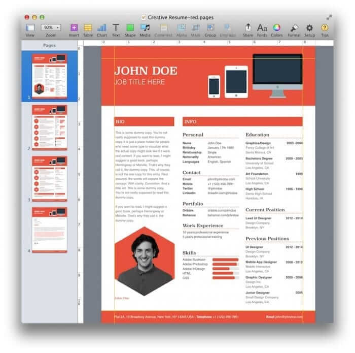 Creative Resume Template 9