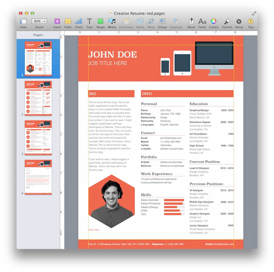 Comfortable 1 2 3 Nu Opgaver Kapitel Resume Big 1 Button Template Flat 1.5 Inch Circle Template 10 Best Resume Designs Young 10 Tips For A Great Resume Dark100 Best Resume Words Creative Resume Template For Pages | MacTemplates