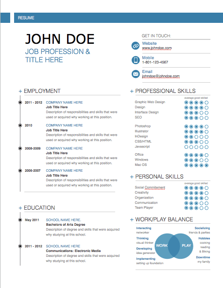 Modern Resume Template MacTemplatescom