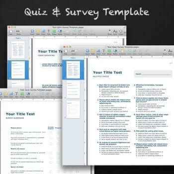 Quiz and Survey Template for Pages