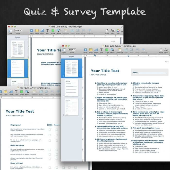 Quiz & Survey Template 1