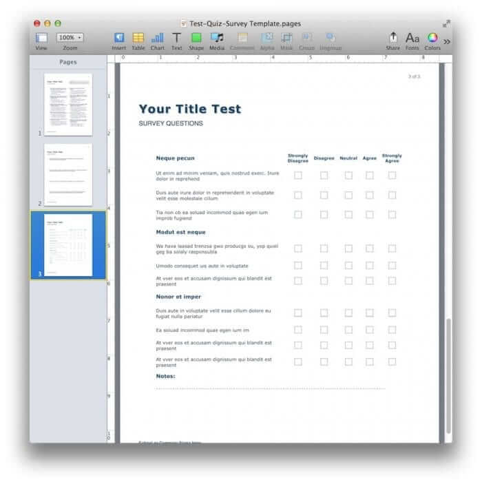 Quiz & Survey Template 4