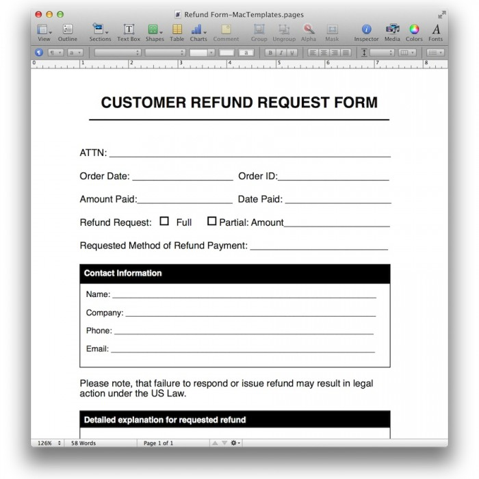 "... review ""Refund Request Form Template"" Click here to cancel reply"