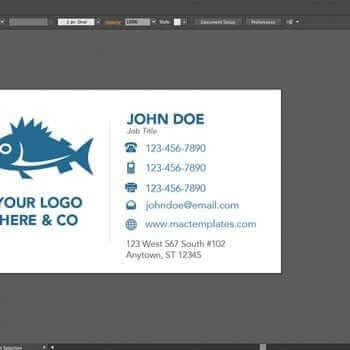 Simple and Clean Business Card Template for Pages and Illustrator