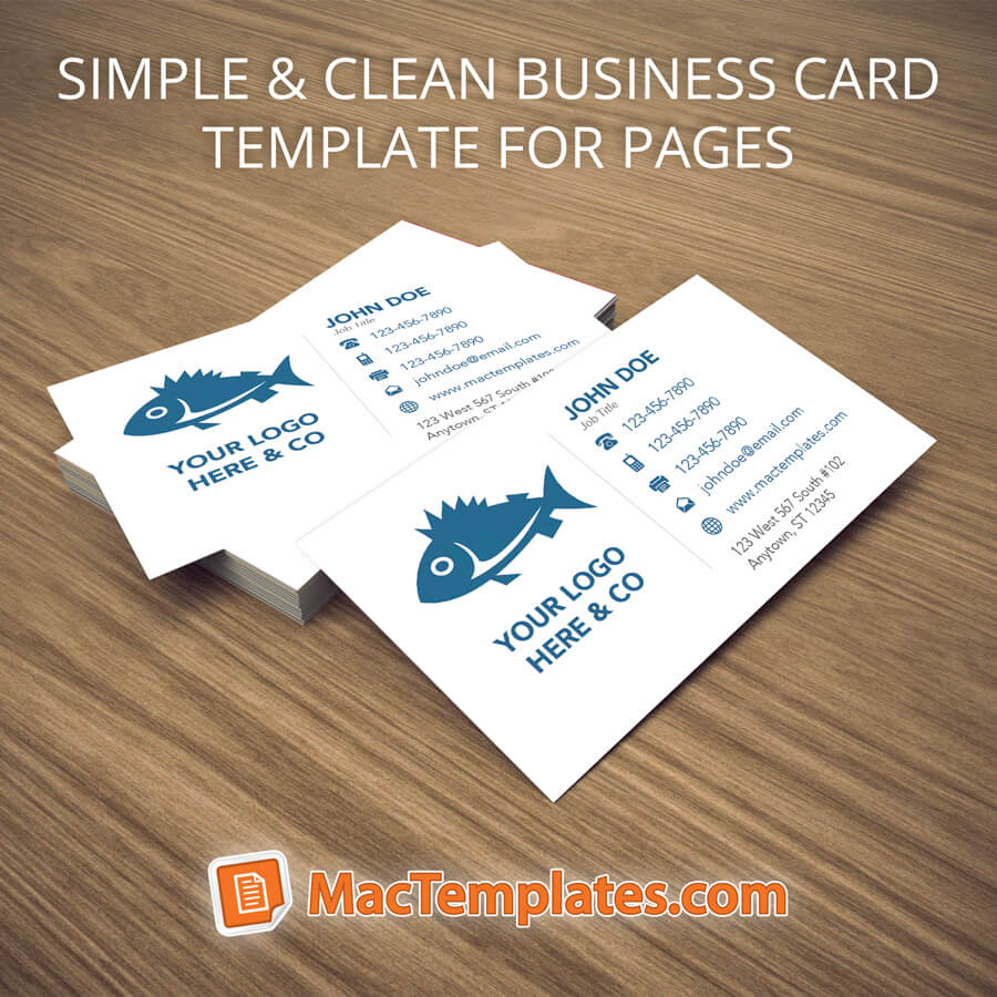 Business Cards Template for Pages or Illustrator | MacTemplates.com