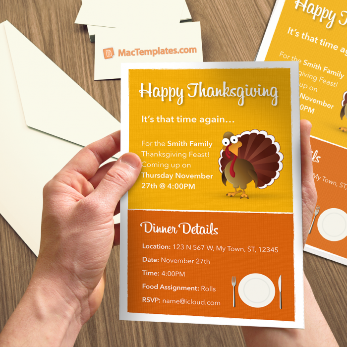 Thanksgiving Invitation Template for Pages