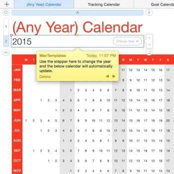 (Any Year) Calendar Tracker Template 16