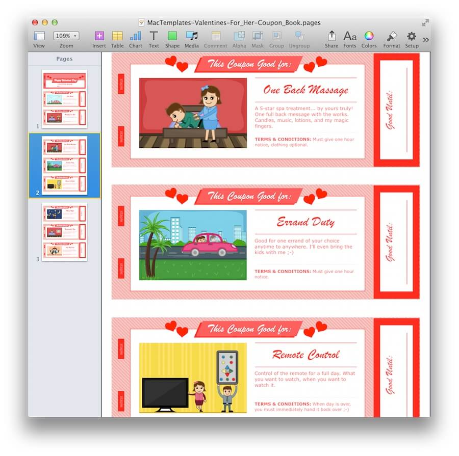 Coupon templates for mac pages